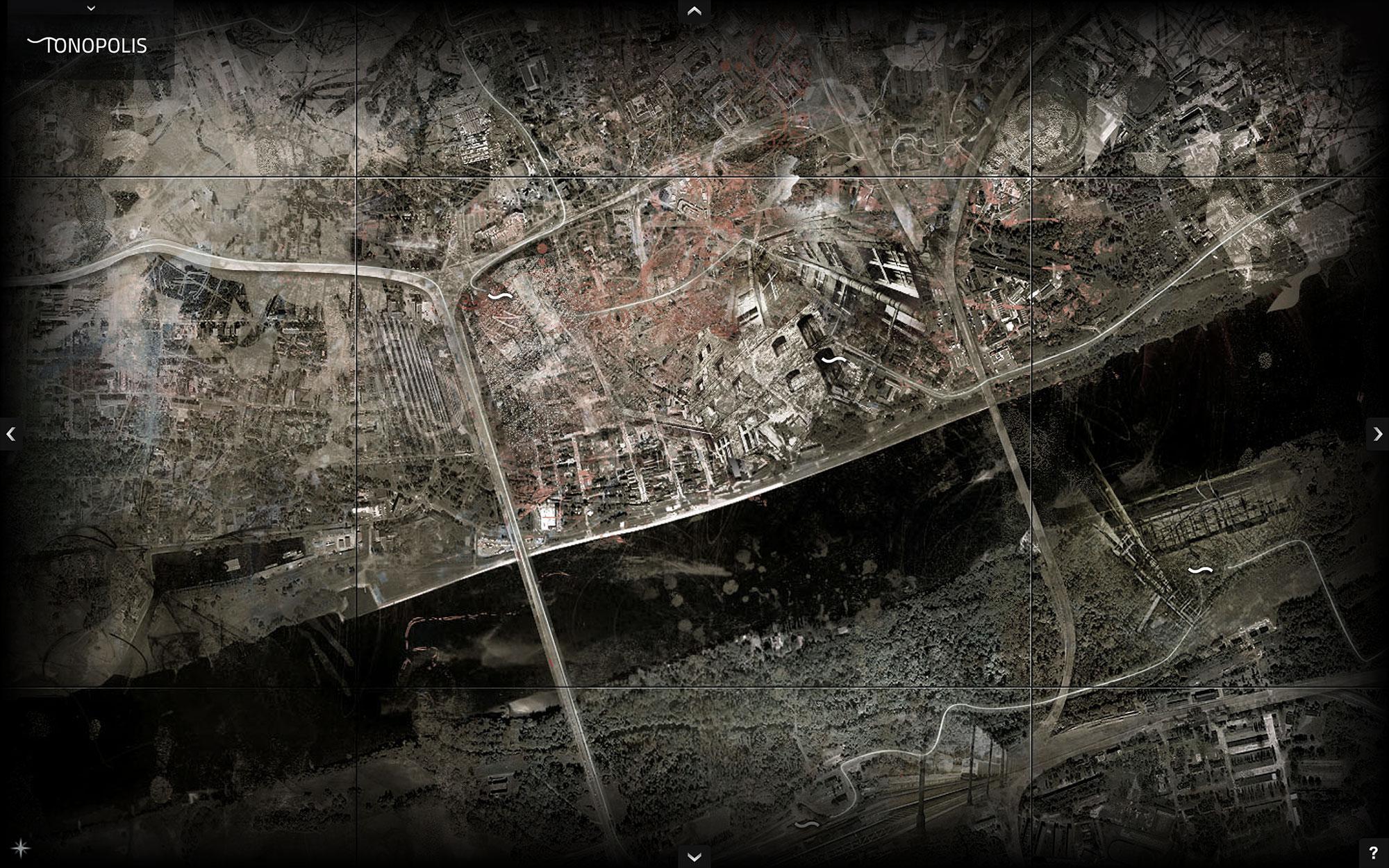 Jacek Doroszenko - Tonopolis, interactive installation, screen 6