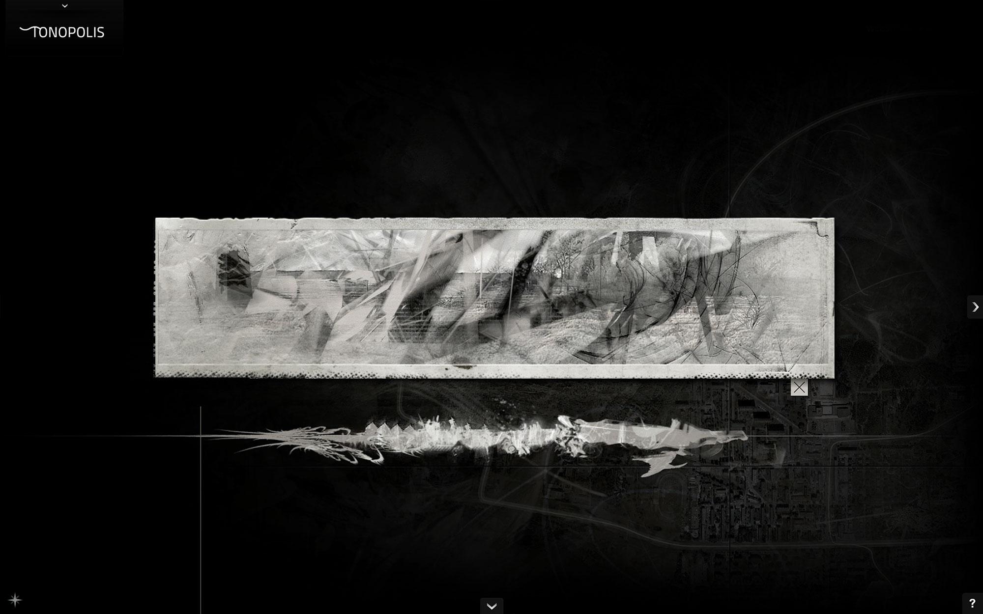 Jacek Doroszenko - Tonopolis, interactive installation, screen 2