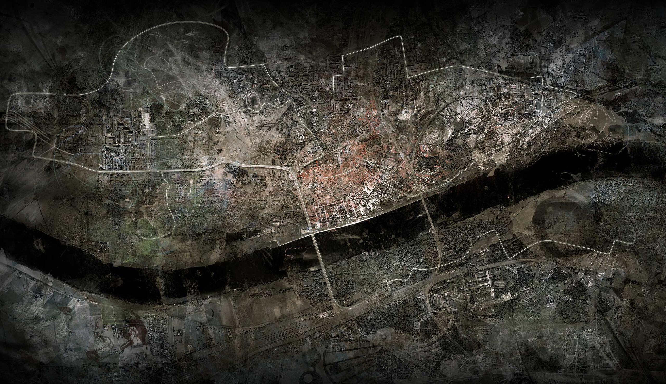 Jacek Doroszenko - Tonopolis, interactive installation, screen 1