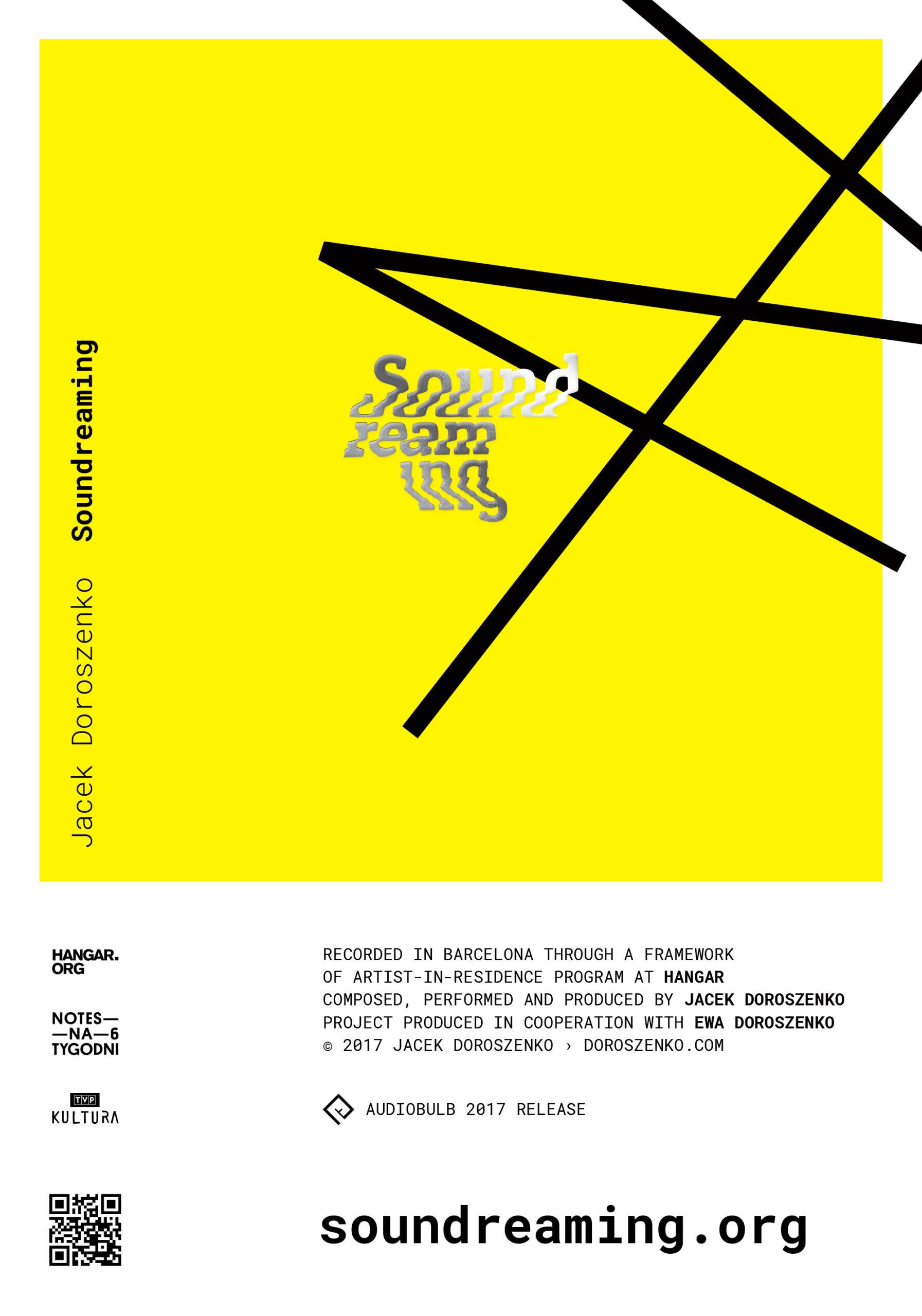 Jacek Doroszenko - Soundreaming album, Audiobulb 2017, poster