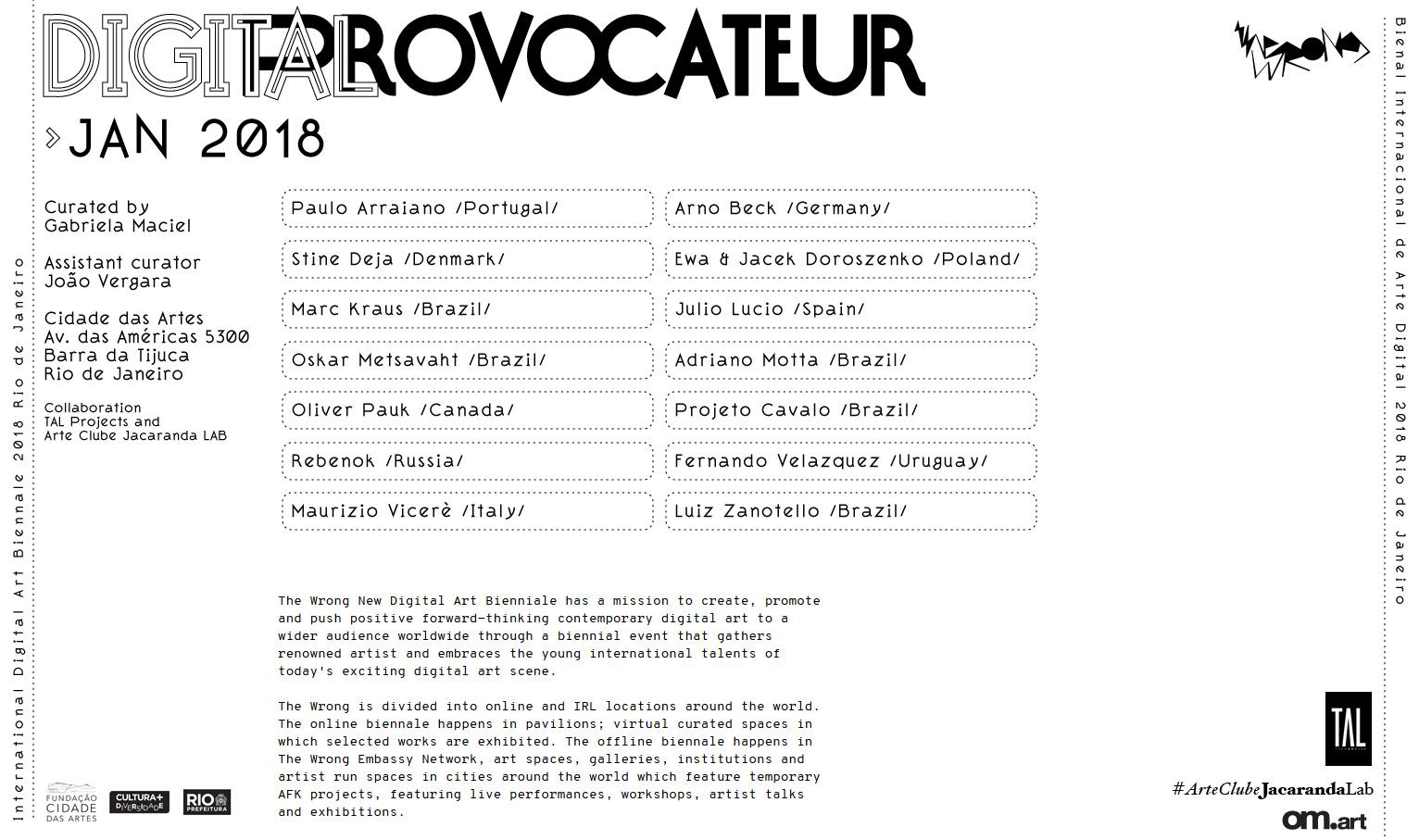 Jacek Doroszenko – Digital Provocateur – exhibition Rio de Janeiro