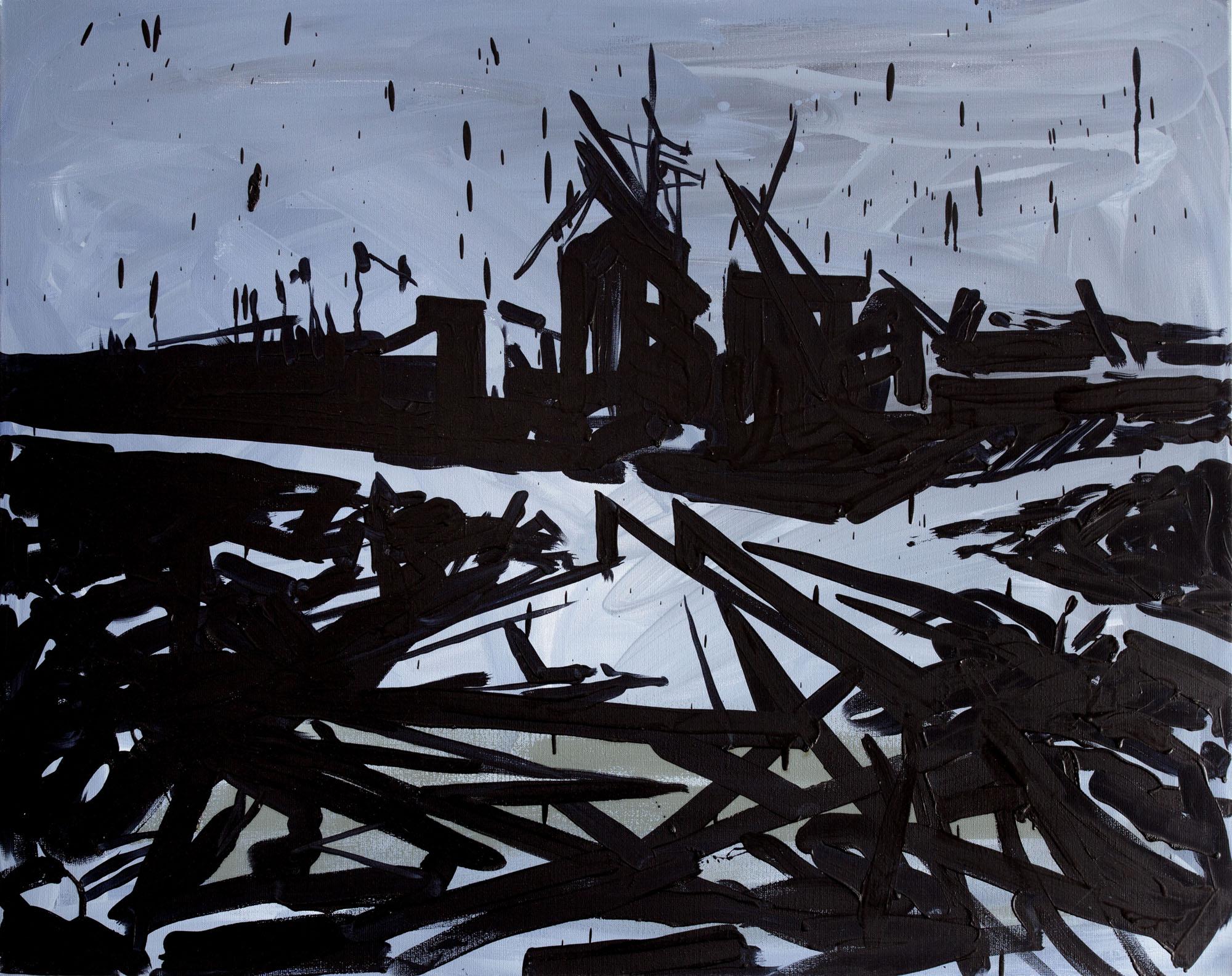 Jacek Doroszenko - 10 minutes, oil and acrylic on canvas 01