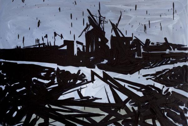 Jacek Doroszenko - 10 minutes, oil on canvas 01